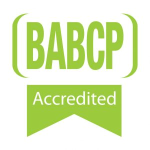 BABCP accredited therapist logo