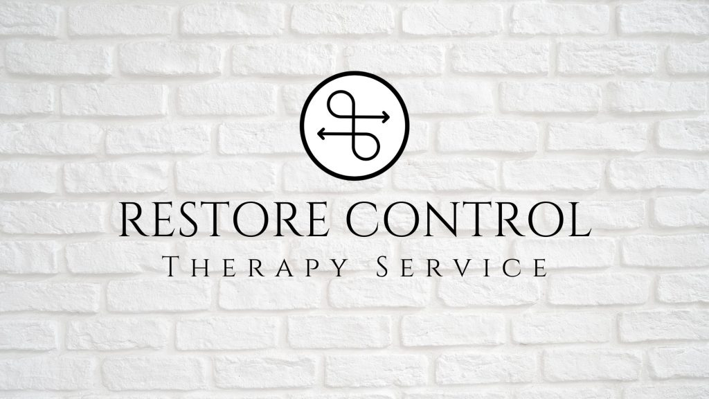 Restore Control Therapy Service Logo On a White Wall